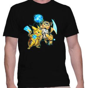 t-shirt-homme-pikachu-family