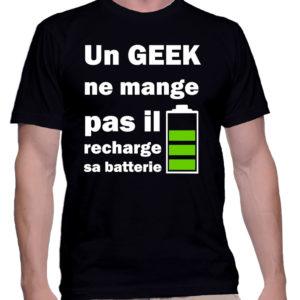 Un Geek ne mange pas, il recharge sa batterie !