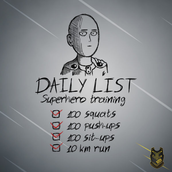 Daily list superhero training